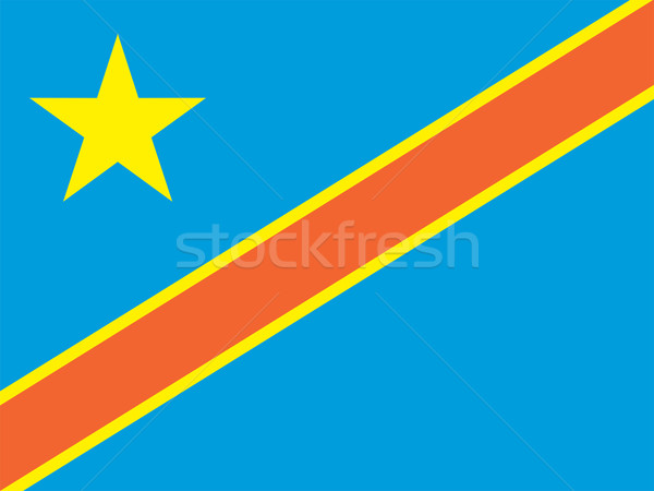 Democratic Republic of the Congo flag Stock photo © oxygen64