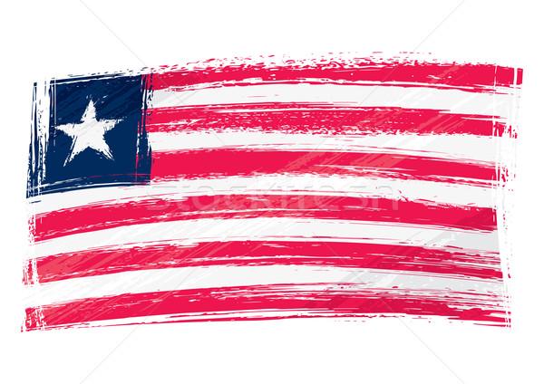 Grunge Liberia flag Stock photo © oxygen64