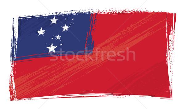 Stock fotó: Grunge · Szamoa · zászló · stílus