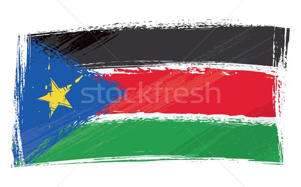 Grunge dél Szudán zászló stílus Stock fotó © oxygen64