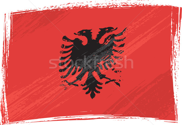 Grunge Albania flag Stock photo © oxygen64