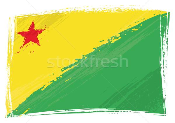Grunge Acre flag Stock photo © oxygen64