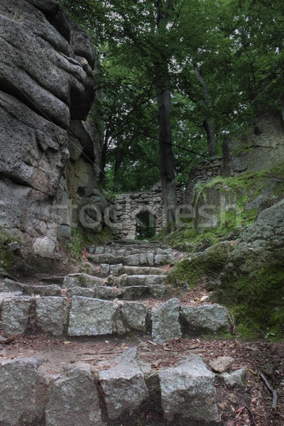 Ruins of old castle Chojnik in Poland Stock photo © oxygen64