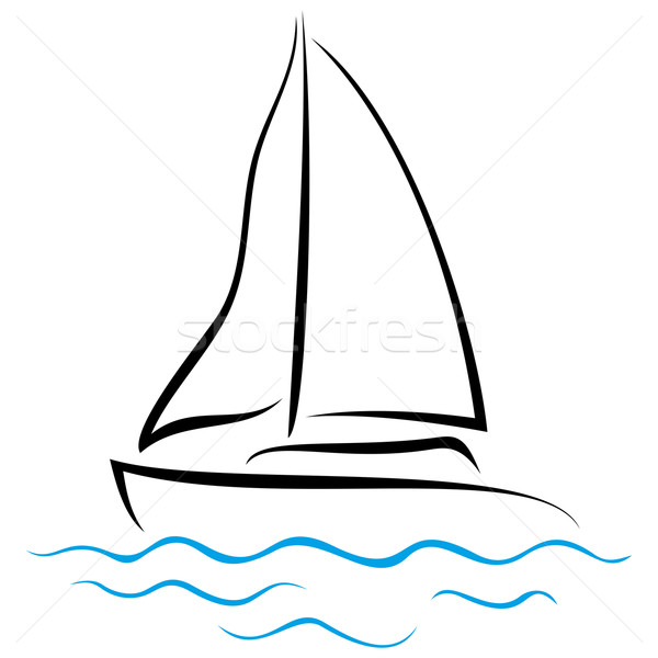 Emblem of Yacht Stock photo © oxygen64