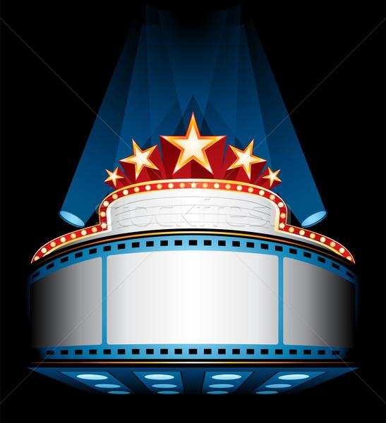 Film première verlicht groot bioscoop Stockfoto © oxygen64