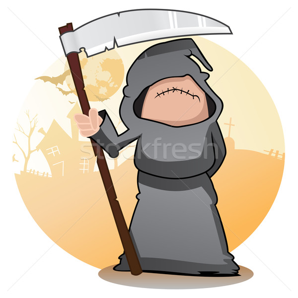 Cartoon Grim Reaper Stock photo © oxygen64