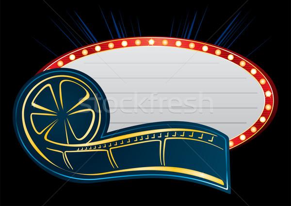 Movie neon Stock photo © oxygen64