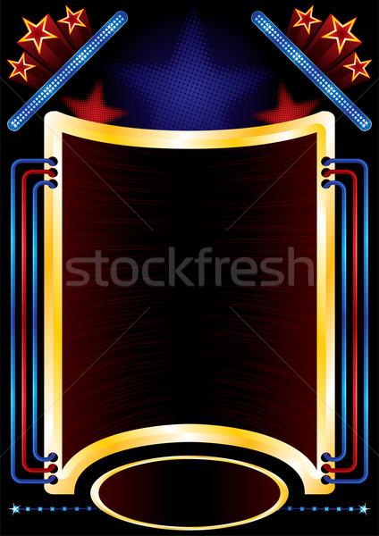 Parte fondo anunciante diseno concierto entretenimiento Foto stock © oxygen64