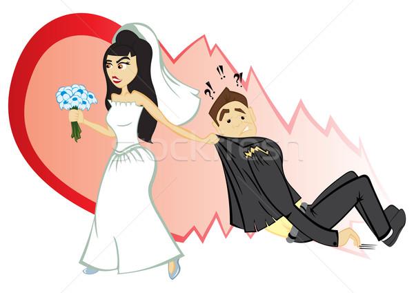 Cerimonia di nozze sposa lo sposo fiore cuore matrimonio Foto d'archivio © oxygen64