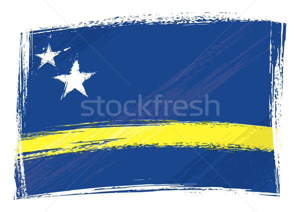 Grunge bayrak stil arka plan Stok fotoğraf © oxygen64