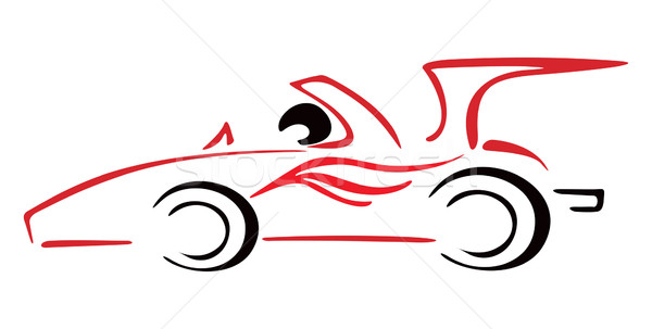 Voiture de course illustration course voiture une formule style Photo stock © oxygen64