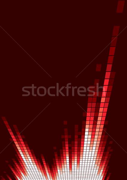 Vermelho equalizador digital música fogo abstrato Foto stock © oxygen64