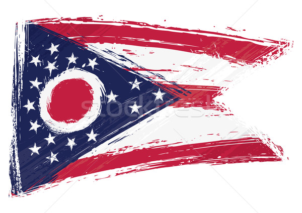 Grunge Ohio bayrak stil arka plan Stok fotoğraf © oxygen64