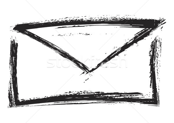 Lettre symbole forme grunge style mail Photo stock © oxygen64