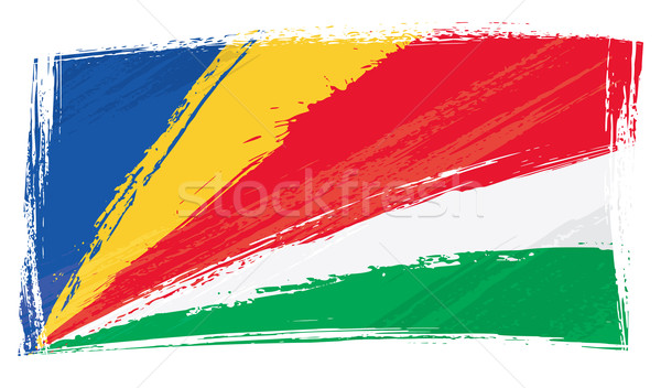 Гранж Сейшельские острова флаг стиль Сток-фото © oxygen64