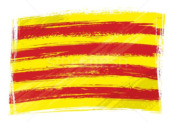 Grunge Catalonia flag Stock photo © oxygen64