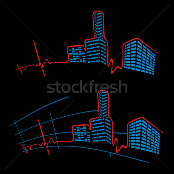 EKG of city Stock photo © oxygen64