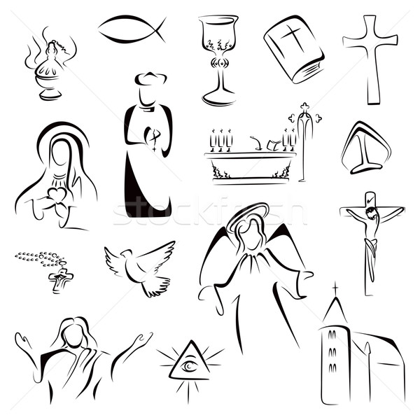 Religion icons Stock photo © oxygen64