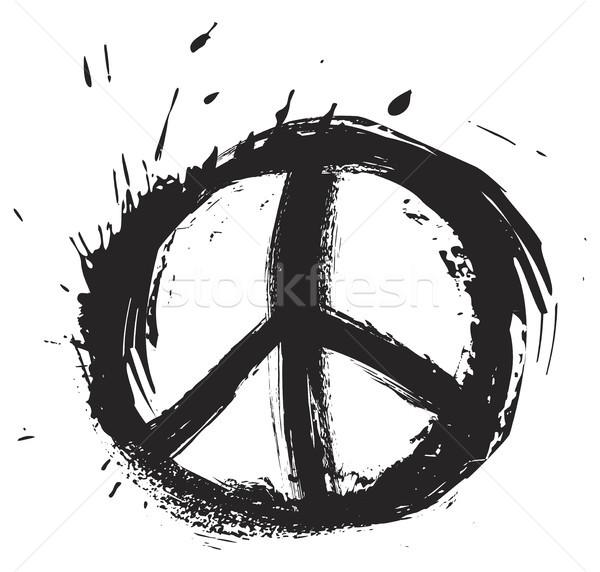Stock fotó: Béke · szimbólum · fekete · grunge · stílus · felirat