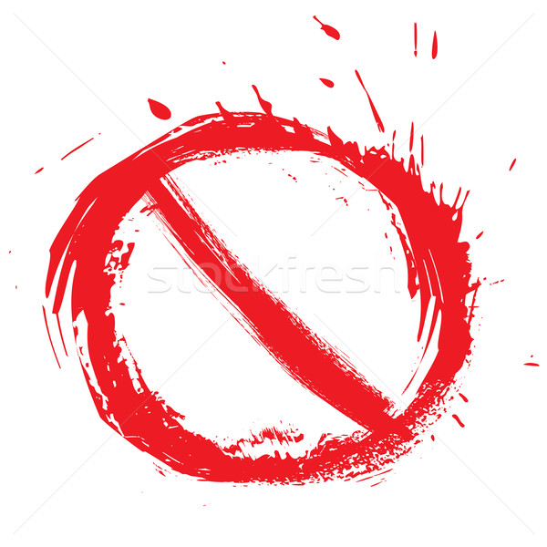 Restricted symbol Stock photo © oxygen64