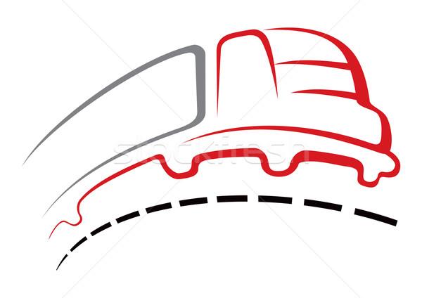 Hızlı teslim büyük kamyon yol hareket Stok fotoğraf © oxygen64