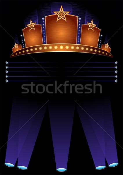Première poster ontwerp opening hollywood muziek Stockfoto © oxygen64