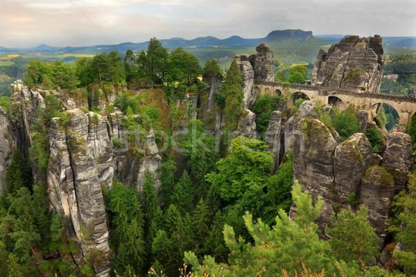 The Bastei bridge in Germany Stock photo © oxygen64