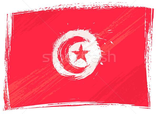 Гранж Тунис флаг стиль Сток-фото © oxygen64