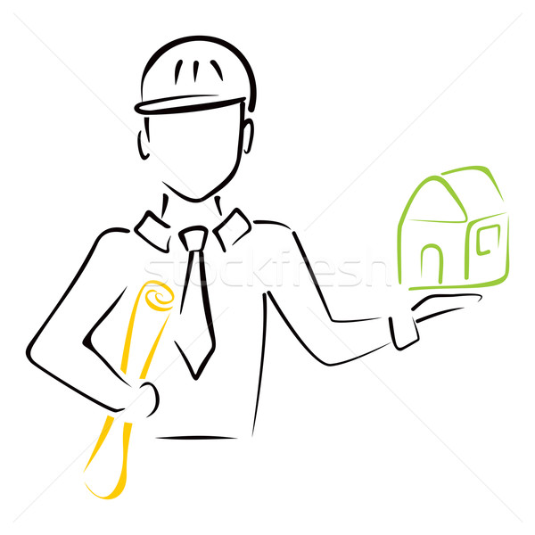 Gayrimenkul mimar planları model ev Stok fotoğraf © oxygen64