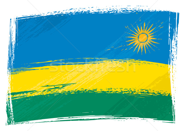 Grunge Rwanda flag Stock photo © oxygen64