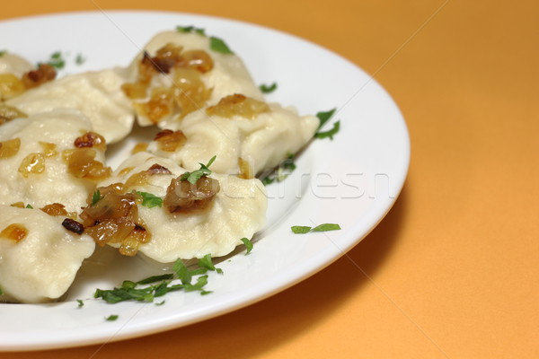 Polish pierogi Stock photo © oxygen64