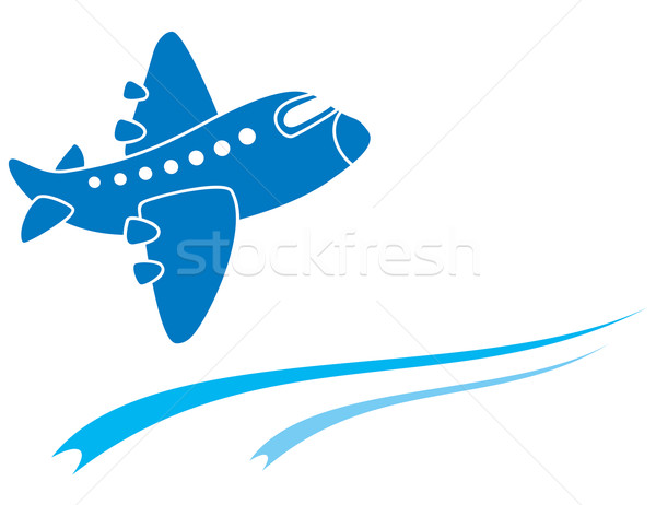 Blue aeroplane Stock photo © oxygen64