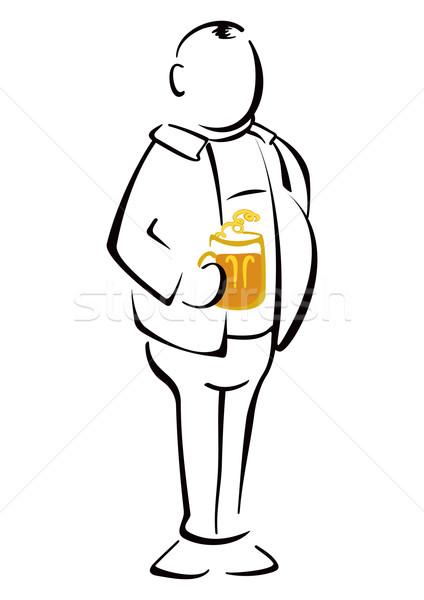 Beer drinker Stock photo © oxygen64