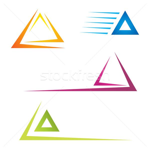 Renkli piktogramlar iş dizayn turuncu Stok fotoğraf © oxygen64