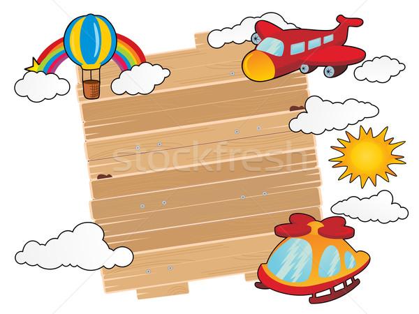 Stockfoto: Reizen · tijd · hout · teken · boord · voertuigen