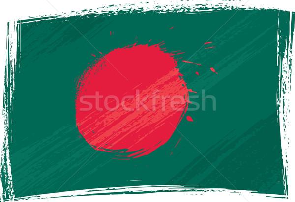 Grunge Banglades zászló stílus Stock fotó © oxygen64