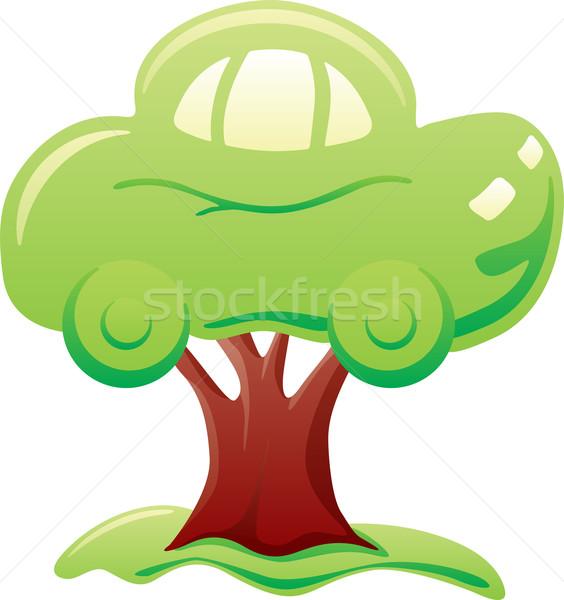 Coche árbol resumen verde naturaleza energía Foto stock © oxygen64