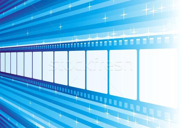 Blu film film strip prospettiva luminoso film Foto d'archivio © oxygen64