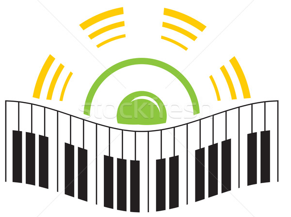 Music logo Stock photo © oxygen64