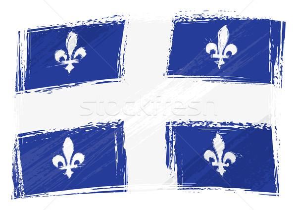 Grunge Quebec bayrak stil Stok fotoğraf © oxygen64