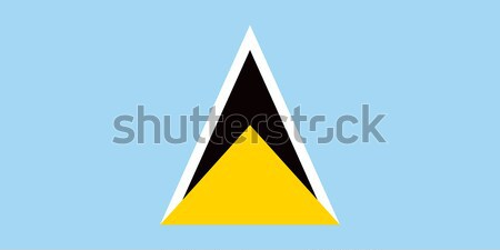 Saint Lucia flag Stock photo © oxygen64