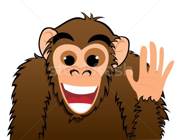 猿 招待 実例 かわいい 漫画 笑顔 ストックフォト © oxygen64