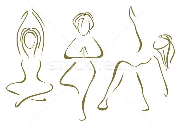 Yoga training Stock photo © oxygen64