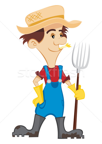 Happy Farmer Stock photo © oxygen64