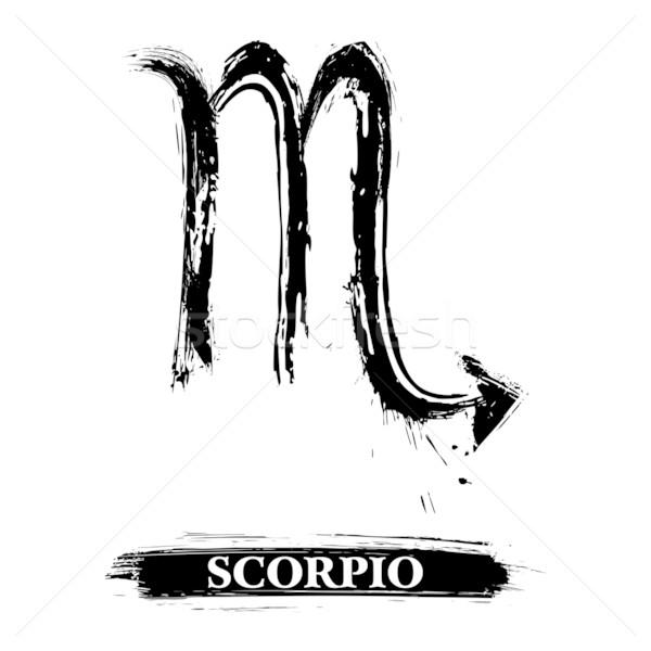 Scorpio symbol Stock photo © oxygen64