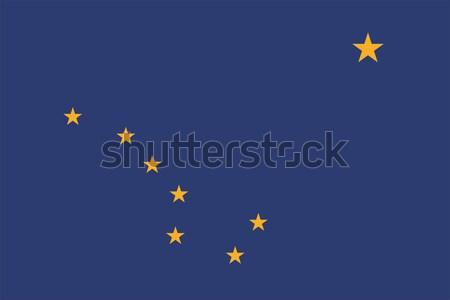 Alaska bandiera vettore Foto d'archivio © oxygen64