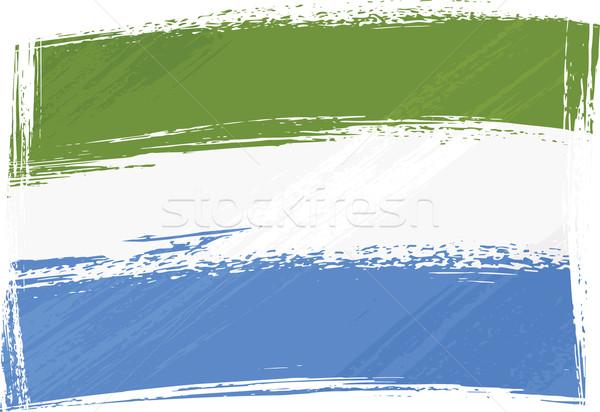 Grunge Sierra Leone flag Stock photo © oxygen64