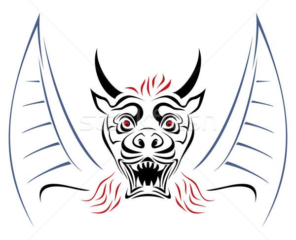 Devil on sketch Stock photo © oxygen64