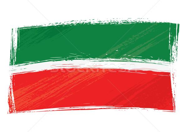 Grunge bayrak cumhuriyet stil arka plan Stok fotoğraf © oxygen64