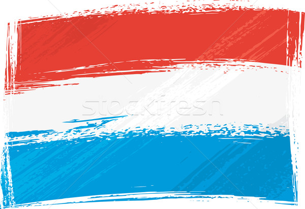 Grunge Luksemburg banderą stylu biały Zdjęcia stock © oxygen64